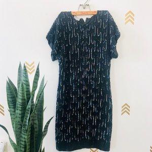 Vintage Beaded Dress. SZ 6